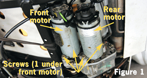Remove The Motors From Gearbox Noting Position Of Each Motor Note That Three S Are Readily Accessible