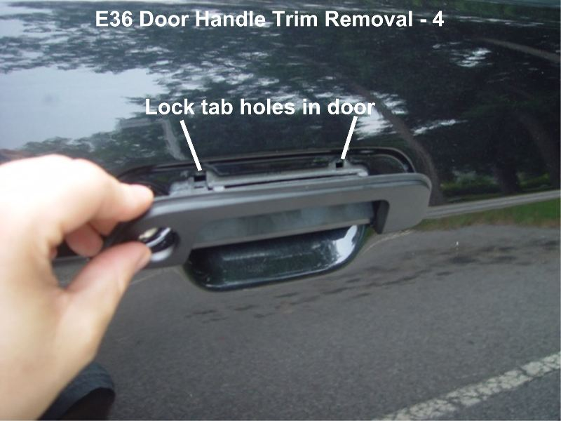 BMW Outer Door Handle Trim and Gasket Replacement – E36 ...