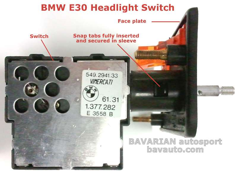 bmw e30 headlight switch removal diy 325i and others. Black Bedroom Furniture Sets. Home Design Ideas