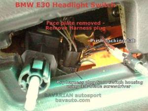 BMW E30 headlight switch DIY