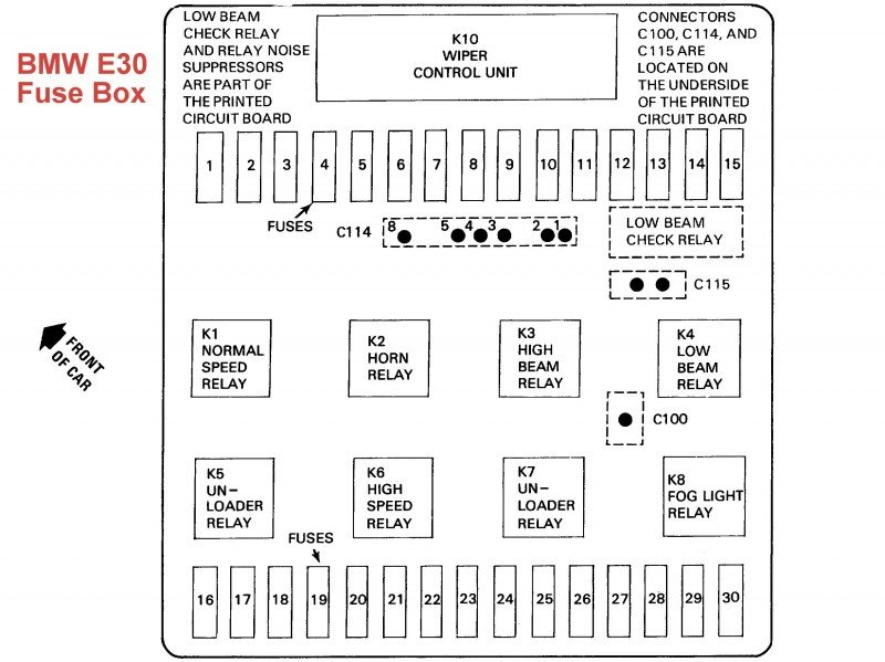 E30 Fuse Box e13086684351821 e30 how to read wiring diagram diagram wiring diagrams for diy Automotive Relay Box at gsmx.co