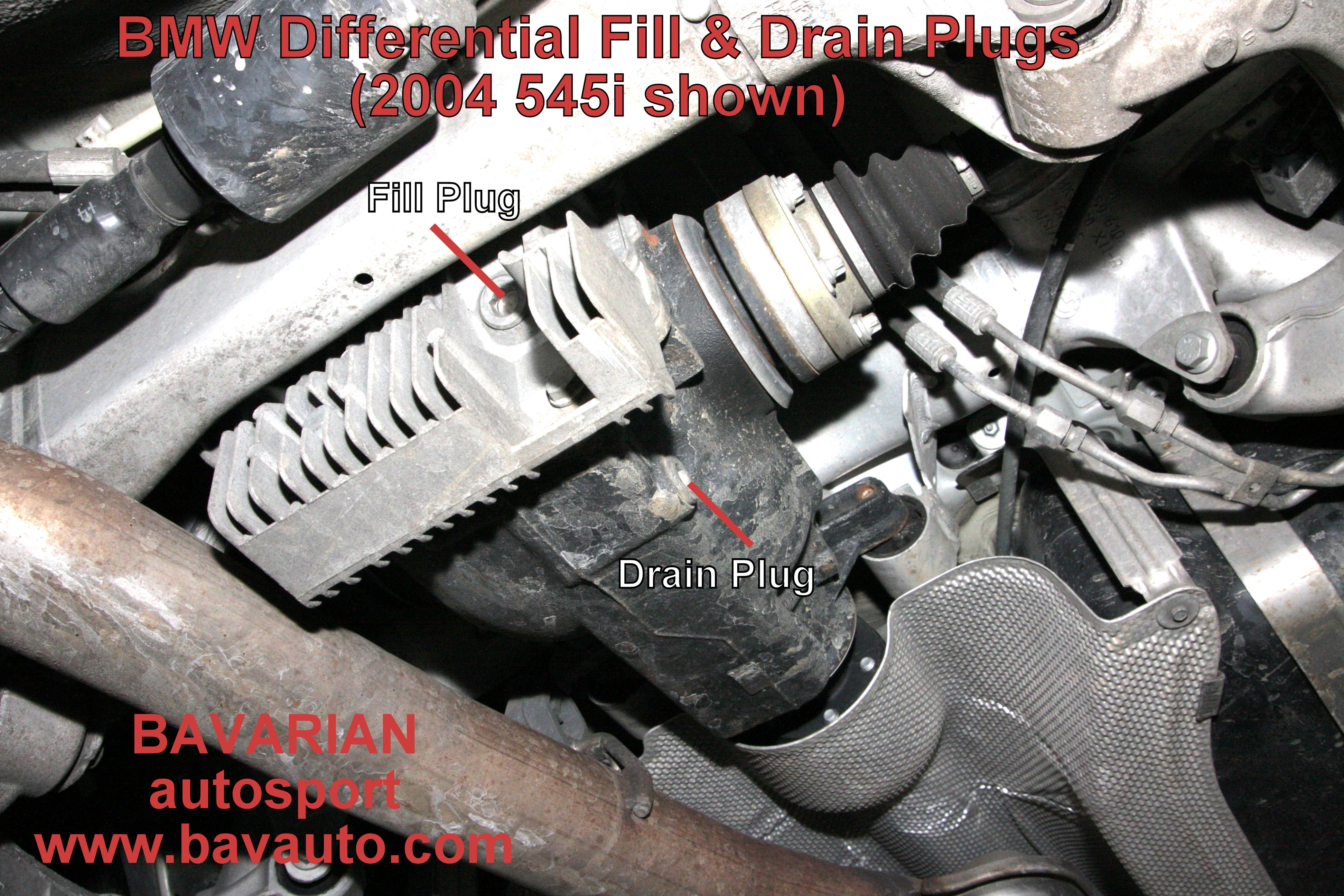 Bmw E39 540i Differential Fluid Change