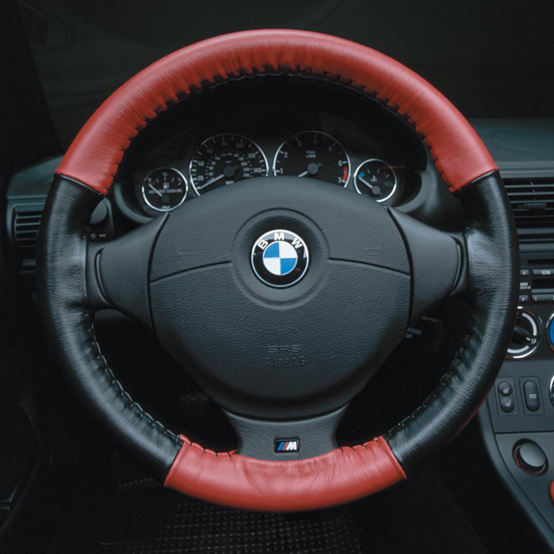 Two Tone Wheelskins steering wheel cover on BMW BAVauto