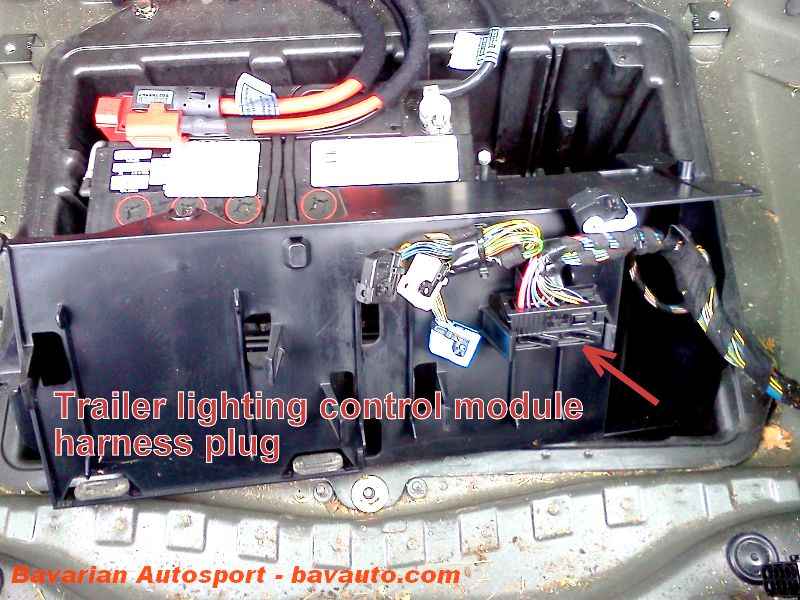bmw x5 e53 how to trailer lighting harness control module 7