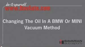 BMW and MINI DIY Video  How to Change Engine Oil With and