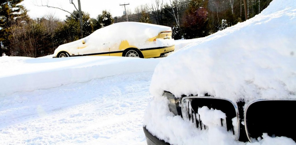 BMWs and MINIs in snow and winter, check your tire pressure, BAVauto