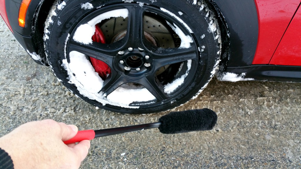 Use Wheel Woolies to clean snow from wheels BAVauto