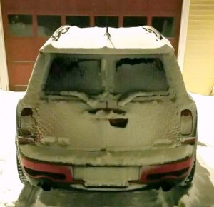 Mini Cooper Clubman in snow with Hakkapeliitta tires BAVauto