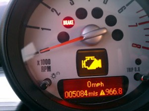 Mini Cooper R56 R55 Reduced Power engine fault warning light